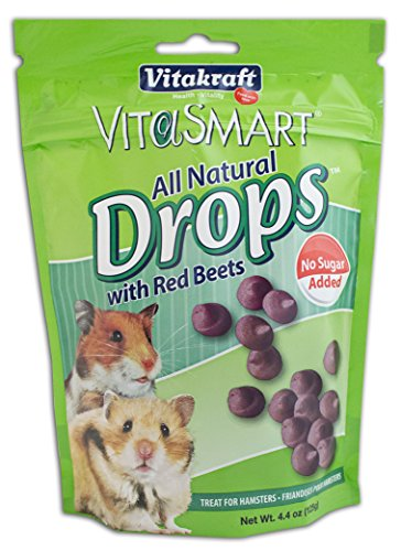 Vitakraft VitaSmart Sugar-Free Drops with Red Beets for Hamsters Treat, 4.4 Ounce Pouch (Yogurt Drops For Rabbits compare prices)