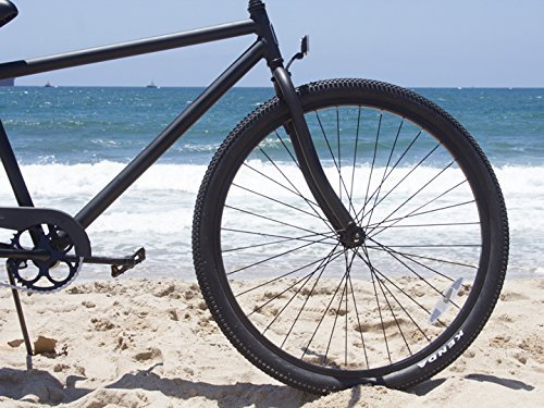 Firmstrong Black Rock Men's Single Speed Beach Cruiser Bicycle, 29-Inch, Matte Black 4