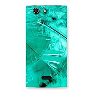 Delighted Feather Cyan Back Case Cover for Canvas Nitro 2 E311