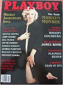 💎 PLAYBOY MAGAZINE: JAN 1997 NUDE MARILYN MONROE JAMES