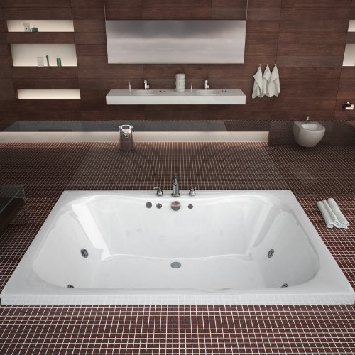 Atlantis Whirlpools 4860nwl Neptune Rectangular Whirlpool Bathtub, 48 X 60, Center Drain, White (Whirlpool Jet Parts compare prices)
