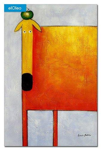 elOleo Pop Art – Der lustige gelbe Hund 90×60 Gemälde auf Leinwand handgemalt 83277A jetzt kaufen
