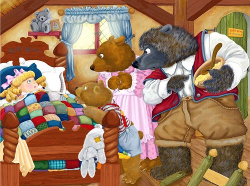 The Three Bears a 63-Piece Jigsaw Puzzle by Sunsout Inc. - 1