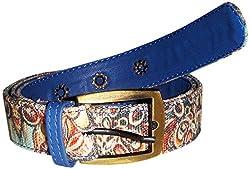 Jajv Women's Canvas Belts (VJ Acc Shel, Blue, M)
