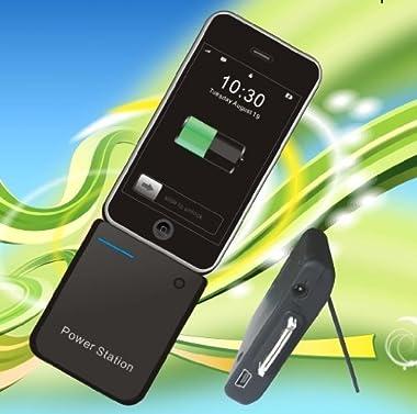 全iPhone、Galaxy S、Xperia X10対応の大容量3000mAh補助バッテリーPower Station 3000A ブラックIP2-3000A