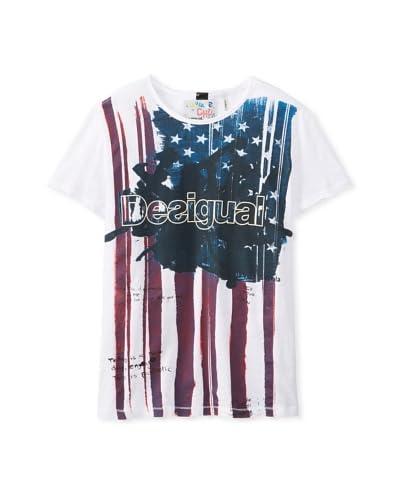 Desigual Men's 31T14361000 Flag T-Shirt