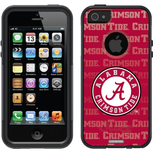 Best Price Alabama - Repeating design on a Black OtterBox® Commuter Series® Case for iPhone 5s / 5