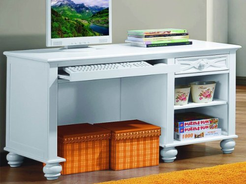 Sanibel Writing Desk By Home Elegance In White front-971928