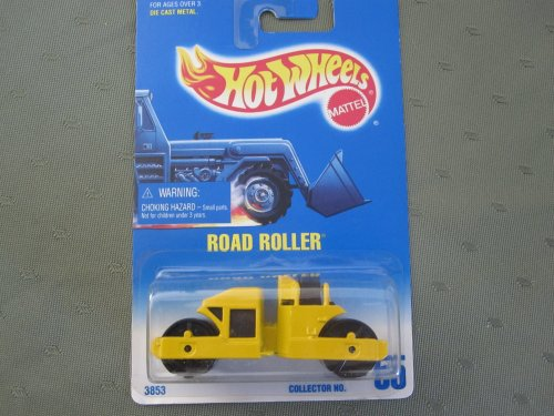 Hot Wheels Road Roller 1990 # 55 Yellow - 1