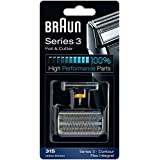 31S BRAUN 5000/6000 Series Contour Flex XP Integral Shaver Foil & Cutter Head Replacement Combi Pack Silver Color
