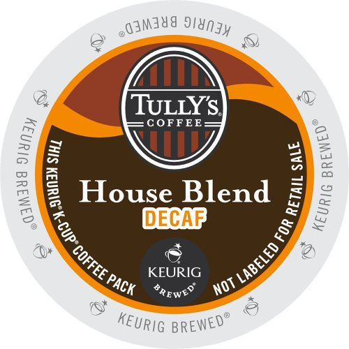 Keurig, Tully'S House Blend Decaf, Medium Roast Coffee Extra Bold 24 K-Cup Single Serve Packs front-604423