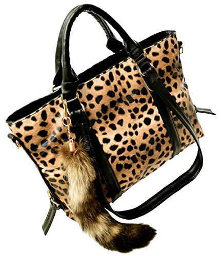 Mgrt Women'S Fashion Leopard Large Shoulder Handbag