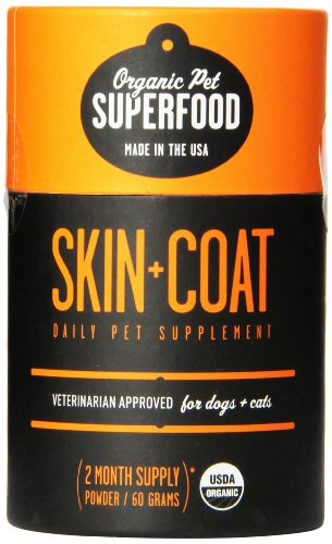 Organic Pet Superfood SKIN+COAT Premium Supplement For Dogs and Cats