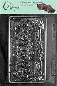 Cybrtrayd R013 Last Supper Chocolate Candy Mold with Exclusive Cybrtrayd Copyrighted Chocolate Molding Instructions plus Optional Candy Packaging Bundles