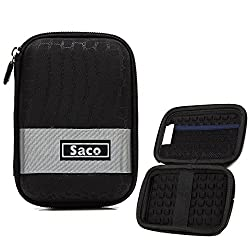 Saco External Hard Disk Hard Case Pouch Cover Bag for Freecom Tough 1 TB  ExternalHard Disk - Black