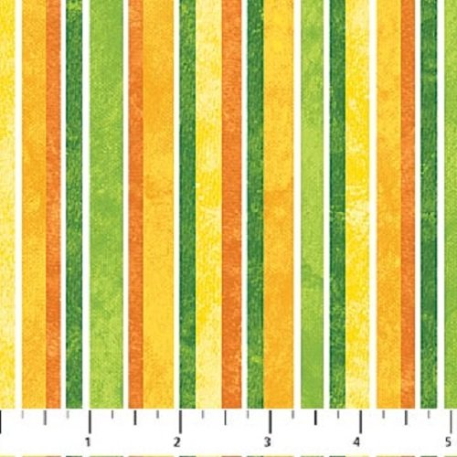 1 Yard Stonehenge Daffodils Stripe by Linda Ludovico from Northcott 100% Cotton Quilt Fabric 20325-73