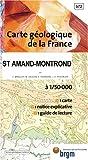 echange, troc Cartes BRGM - Carte géologique : St-Amand-Montrond