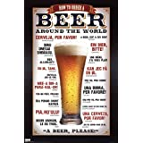 How to Order a Beer Around the World . Art POSTER Poster 22.00 X 34.00 ~ TIA