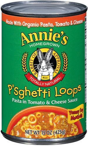 Annie's Homegrown Organic P'sghetti Loops With Soy Meatballs, 15.0 Ounce Tins (Pack of 12)