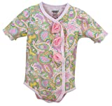 Stephan Baby All-in-One Diaper Cover with Pink Organza Rosettes, Pretty In Paisley
