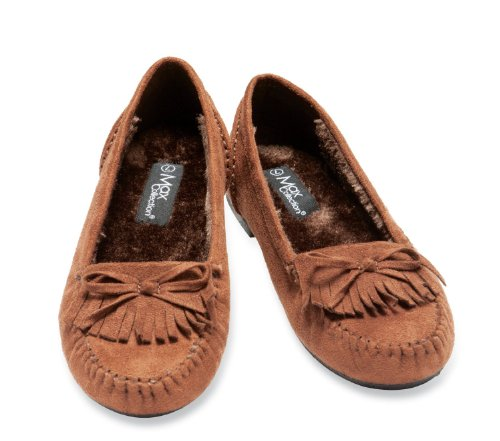 Image of Faux Suede Moccasin Style Womens Flats (B004XU6E8U)