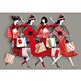 V&A Christmas Cards - Christmas Shopping by Lesley Barnes (Pack of 6)||RNWIT||EVAEX