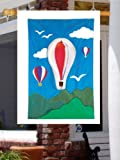 "3 D R,W,B Hot Air Balloon - Large House Flag 28"" x 40"""