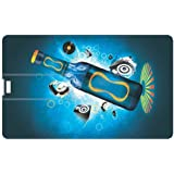 Design Worlds Design Credit Card 16 GB Pen Drive Multicolor - B01GL2AL9A