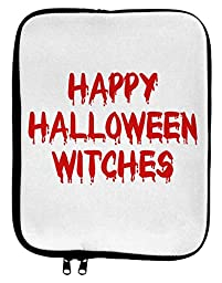 Happy Halloween Witches Blood Red 9 x 11.5 Tablet Sleeve - White Black