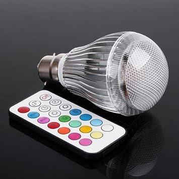 timetop led rgb 9w b22 b22 lampe d 39 ampoule color e avec avec t l commande cuisine maison. Black Bedroom Furniture Sets. Home Design Ideas