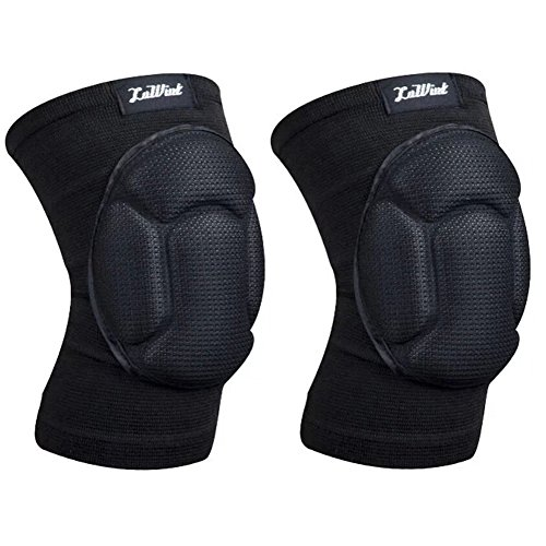 Gardening Flooring Volleyball Knee Pads - Luwint Adult High Elastic Knee Support Sleeves - Black, 1 Pair
