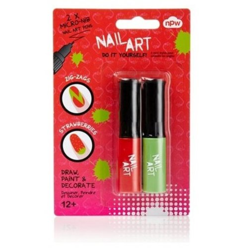Nail Art - Mini Pens (Red & Green)