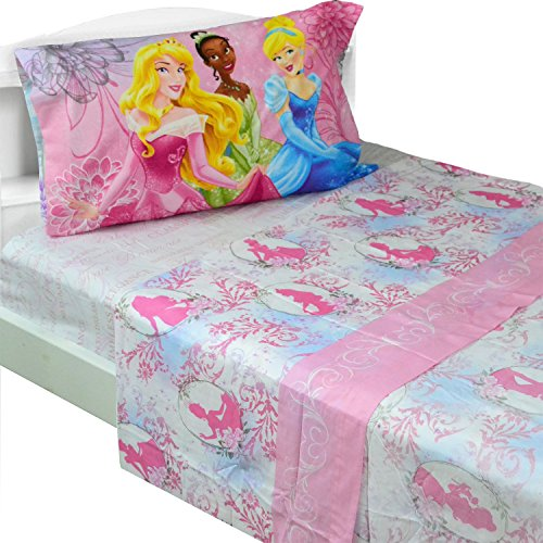 Best Price! Disney Princess Full Bed Sheet Set Dreams in Bloom Bedding