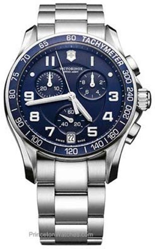 Swiss Army Chronograph Classic Blue Dial Men's Watch - V241497