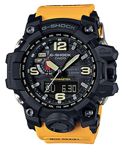 Casio G-Shock Mudmaster Black Dial SS Chrono Quartz Men's Watch GWG1000-1A9