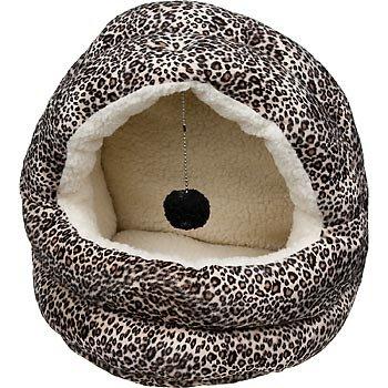 Petco Covered Cat Bed in Cheetah, 15