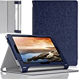 MoKo Lenovo Yoga 10 / Yoga 10 HD+ Folio Case - Premium Leather Cover Case for Lenovo Yoga Tablet 10.1 - Inch / Yoga Tablet 10.1 - Inch HD+ Android 4.3 Jelly Bean Tablet, INDIGO (With Smart Cover Auto Wake / Sleep)