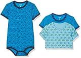 Care Baby-Jungen Body 4133, 3er Pack, Mehrfarbig (Blue 755),...
