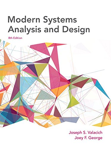 Modern Systems Analysis and Design (8th Edition)