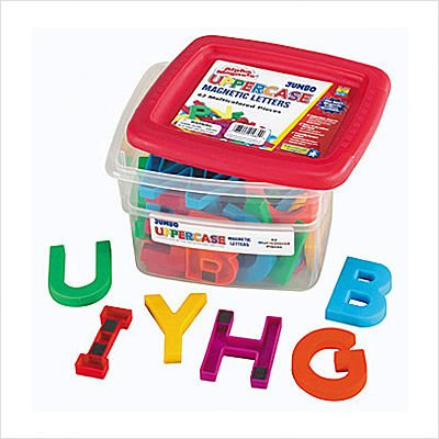 Educational Insights Jumbo Uppercase AlphaMagnets -Multicolored