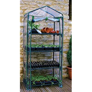 Gardman Rainbow Garden 4-Tier Mini Greenhouse