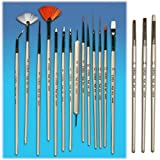 Ginza Complete Set of Nail Art Brushes (17pcs in a Set) ~ Ginza