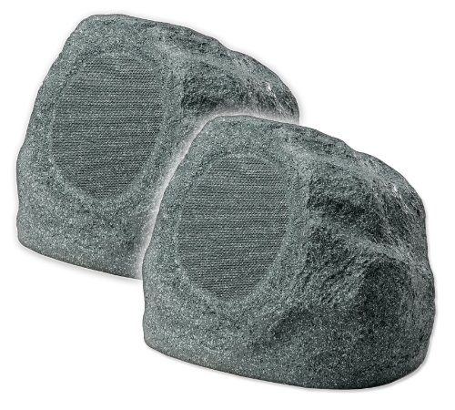 Osd Audio Rs690 6.5-Inch Outdoor Rock 175-Watt Speaker Pair, Granite Grey