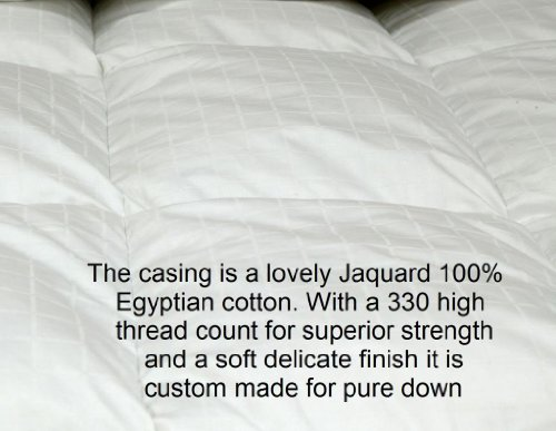 Viceroybedding Luxury King (230cm x 220cm) All Season (4.5 tog  &  9 tog) PURE 100% Siberian Goose Down Duvet