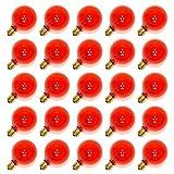 Sival 40123 - G40 Candelabra Screw Base Transparent Amber (25 pack) Christmas Light Bulbs