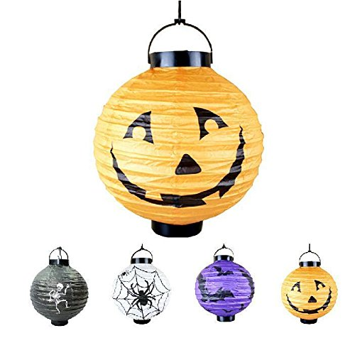 [Cute Hanging Pumpkin Paper Lantern DIY Decor Lamp Halloween Holiday Party Light] (Alice In Wonderland Costume Ideas Diy)