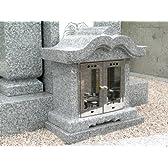 陣笠香炉 青御影石 磨き仕上げ 墓石