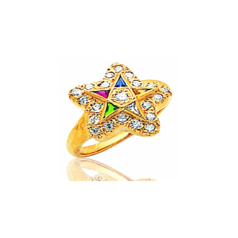Mens 14K Yellow Gold Semi Mount Masonic Ring