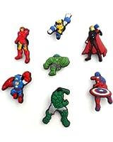 7 pcs Set of Shoe Charms Avengers