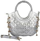 Advika Women's Handbag (Silver, AD608)